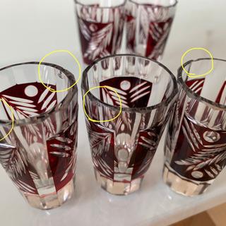 手彫り霧子グラス ショットグラス5セット