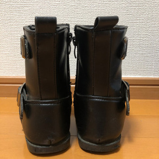 18cm 黒色ブーツ - 子供用品