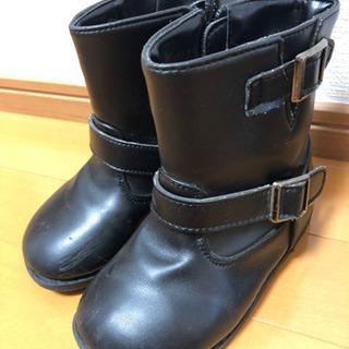 18cm 黒色ブーツの画像