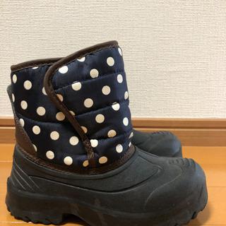 17cm 黒、紺色 水玉ブーツ − 高知県
