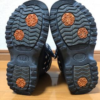 17cm 黒、紺色 水玉ブーツ - 売ります・あげます