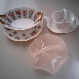 茶菓子容器 ティプレート 5品 花柄器