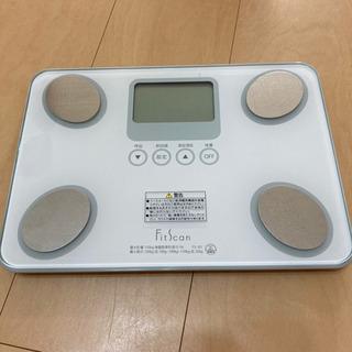 タニタ 体重計 体組成計 フィットスキャン FS-101-WH