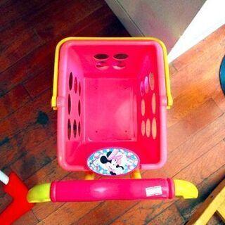 ミニーマウス おかいものカート ディスニー ミニー ショッピングカート おままごと キッズ用品 カート おもちゃ 札幌市東区 新道東店 - 売ります・あげます