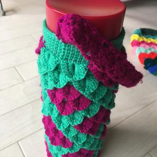 編み物 水筒カバー