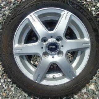 バリ溝軽自動車用アルミ付きスタッドレスタイヤセット