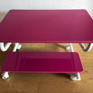 パソコン テレビ 台 ピンク色