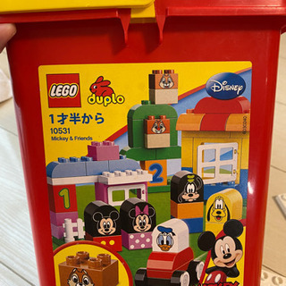 レゴ デュプロ 赤バケツ ミッキー&フレンズ 基板付き 欠品あり