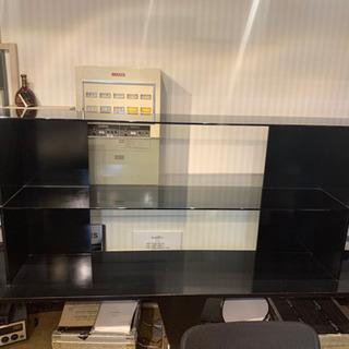 店舗 ショールーム ガラス 3段 ラック 棚