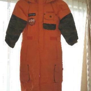 子供用スノーウェア(110cm、オレンジ)