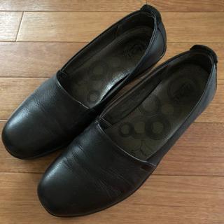 黒い靴 レディース  26.0㎝ flexi
