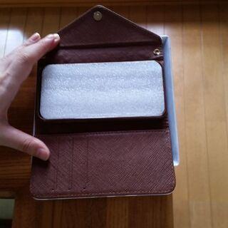 手帳型アイフォン保護 携帯 レザーケース  ネイビー