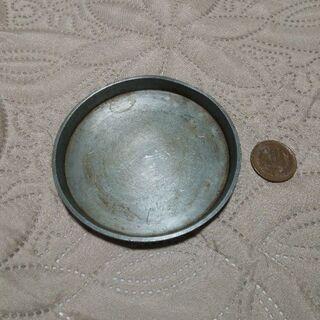 急須盆? 純錫 口径9.3cm 100グラム
