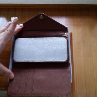 手帳型アイフォン保護・携帯ケースレザー アイボリー