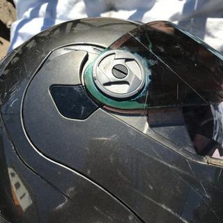 ガンメタ ヘルメット2重シ一ルドM.L