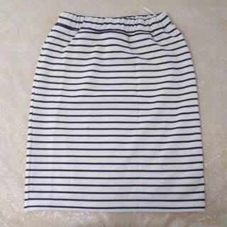 レディース Lサイズ ボーダータイトスカート