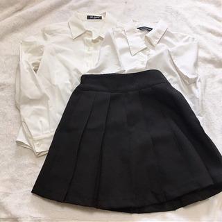 140cm式服3点 長袖/半袖Yシャツ、スカート 相談中