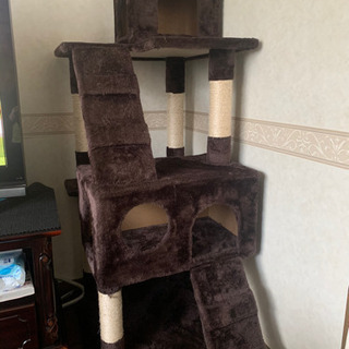 猫用 おしゃ爪とぎ 猫タワー 多頭飼い 麻紐の画像