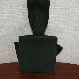 MIKIMOTO グリーンスウェード バッグ