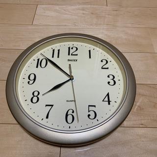掛け時計 シンプルな文字盤 中古 さしあげます