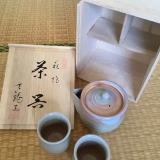 木箱付き 萩焼 夫婦 ペア 湯呑み 茶碗 セット 美品 贈答品 ...