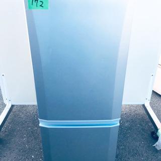 172番 三菱✨ノンフロン冷凍冷蔵庫✨MR-P15T-S‼️
