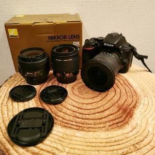 Nikon D5600カメラ、レンズ3本