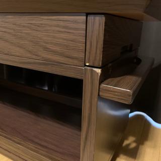 【お譲り】フロアワゴン ダークブラウン色 - 家具