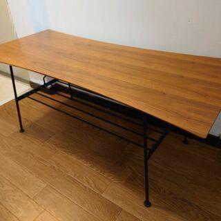 テーブル ローテーブル リビングテーブル カフェ風 男前 センタ...
