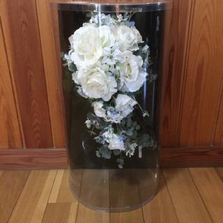 ブーケ&ブートニア(造花)白