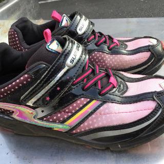 中古 運動靴 ピンク23.0㎝