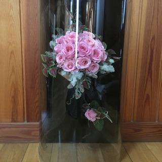 【取引決定】ブーケ&ブートニア(造花)ピンク