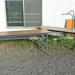【サイズ2種】 折り畳み式 会議テーブル 長机 3台あり
