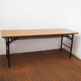 【中古】折りたたみテーブル オフィステーブル 幅1800 奥行6...