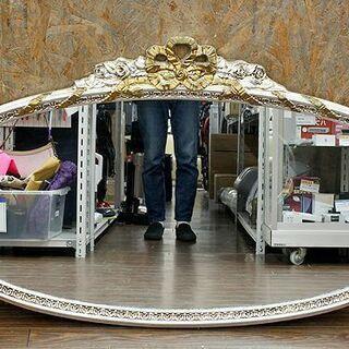 札幌 引き取り イタリア製 金銀彩装飾 ウォールミラー 壁掛け ...