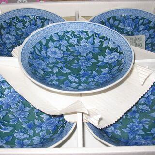 花柄和皿 5枚組