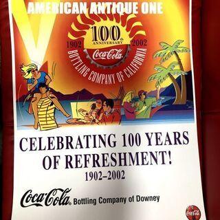 アメリカ・コカコーラ 非売品 2002年 大型69cm 100周...