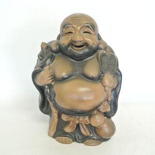 仏像C 宝袋尊 七福神 焼き物 中は空洞。