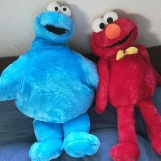 【値下げ】セサミストリート ロングぬいぐるみ エルモ&クッキーモ...