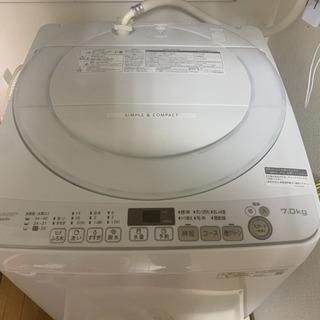 シャープ 3カ月使用7キロ洗濯機