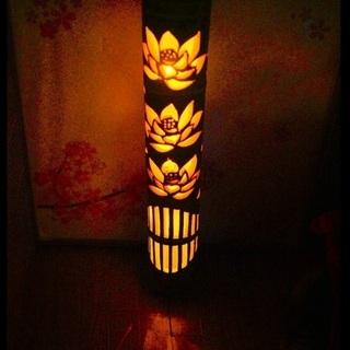 幻想の灯り 竹灯籠 〜〜蓮池〜〜