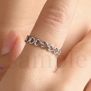 新品 シルバー リング 指輪 フリーサイズ レディース    ア...