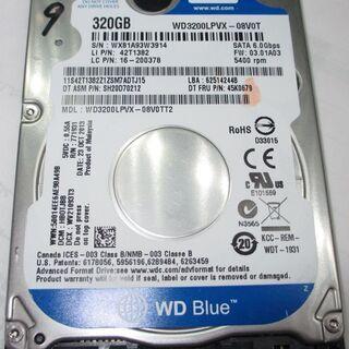 🟨🟨🟨NO.9   2.5  HDD 7mm 320GB WD3...