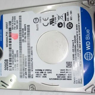 🟪🟪🟪 No.11 2.5 HDD 7mm WD3200LPVX...