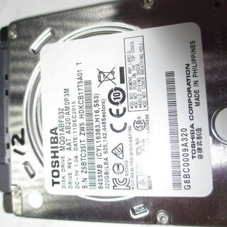 🟧🟧🟧No.12  2.5 HDD 7mm MQ01ABF032...