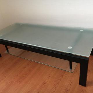 ガラス製のテレビ台/ローテーブル