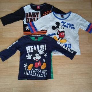 BABY DOOL五分と七分袖Tシャツ3枚セット 120サ…