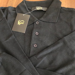 長袖ポロシャツ 黒 サイズL