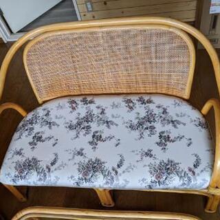 籐 家具 テーブル椅子セット - 札幌市
