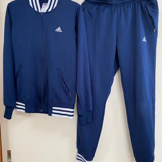 adidas スポーツ向け ジャージ上下セット ネイビーM…